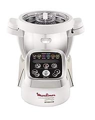 Idea Regalo - Moulinex HF802AA1 Cuisine Companion Robot da Cucina Multifunzione con 6 Programmi Automatici, Bianco/Argento