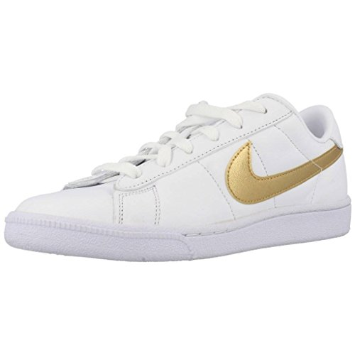 Nike Wmns Tennis Classic, Gymnastique Femme Blanc (blanc / doré métallique - désert)