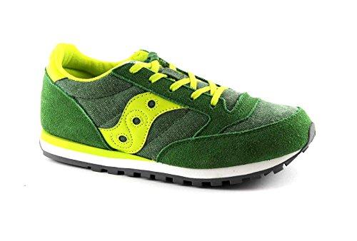 SAUCONY SY55552 JAZZ green yellow verde scarpe ragazzo boy laccio 37