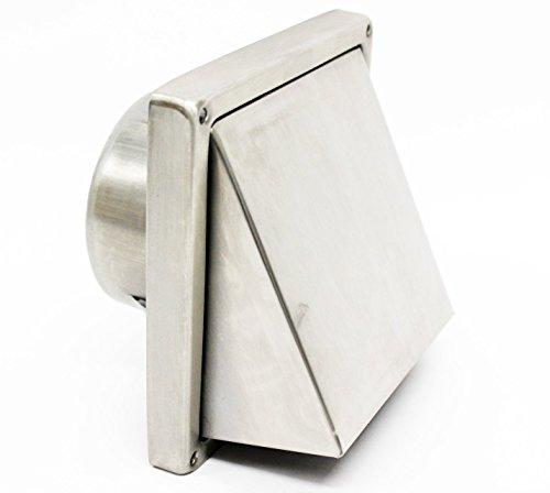 100 mm de haute qualité 10,2 cm mages de sortie en acier inoxydable avec clapet anti-retour Vnt9403