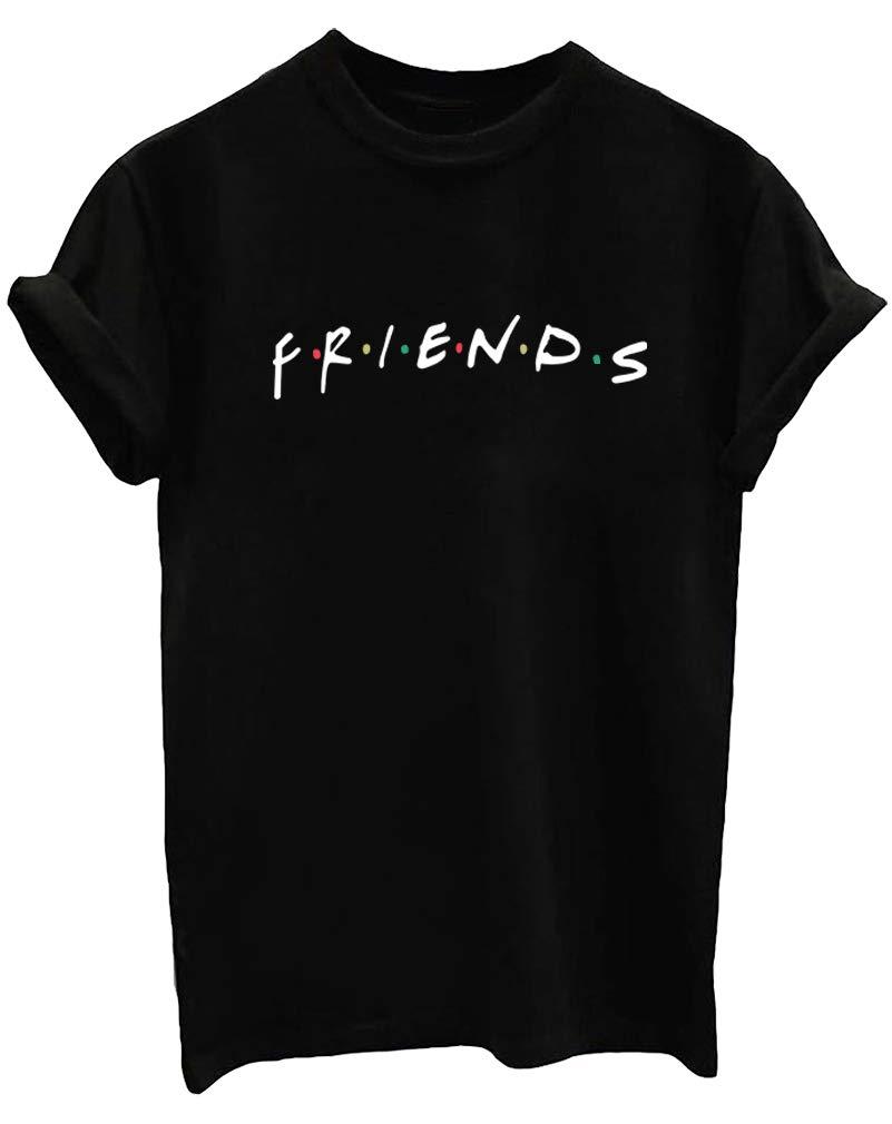 410hgHZm qL - BLACKMYTH Mujer Moda Verano Casual Camisetas Algodón Manga Corta Graficas T-Shirts