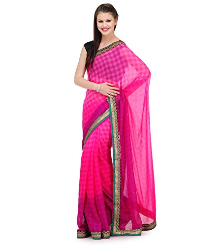 Fabroop Net Saree (Fbsarchf000179_Magenta/Purple)