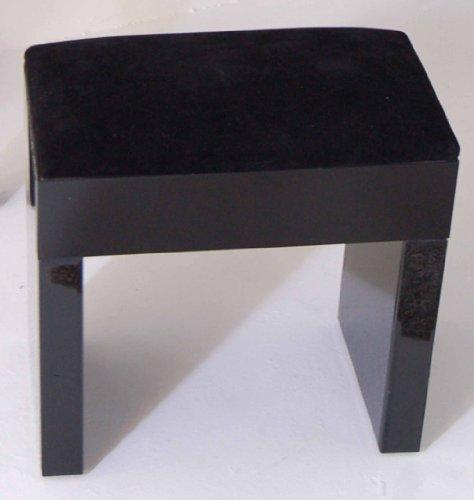 MY-Furniture - Mirrored furniture Black Glass High Gloss - STOOL