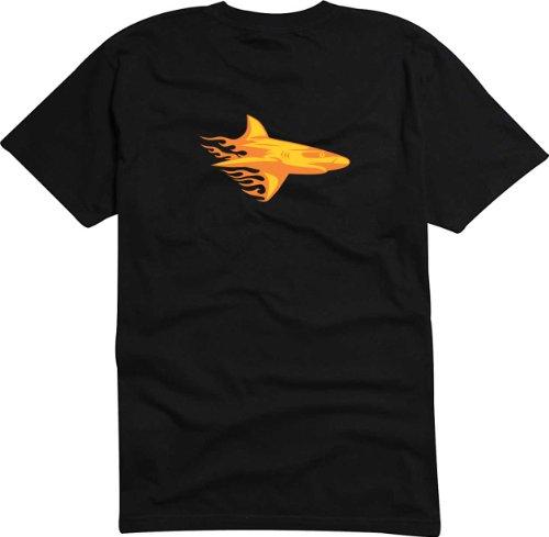 T-Shirt Herren Haifisch Schwarz
