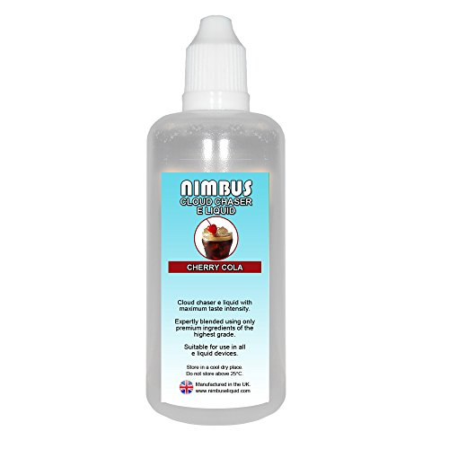 100ml Cherry Cola E Liquid 80/20 Cloud Chaser Sub Ohm Juice Shisha Vape Juice 0mg E Cigarette Liquid Ecig Juice (Nimbus E Liquid)