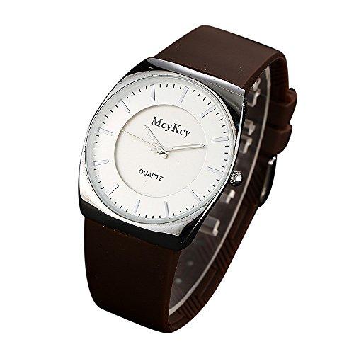 SamMoSon Relojes Hombre Deportivos Elegantes Digital Inteligente De Agua,Mcykcy Cuero Impermeable Cuarzo Analógico del Ejército De Los Hombres Relojes De Pulsera