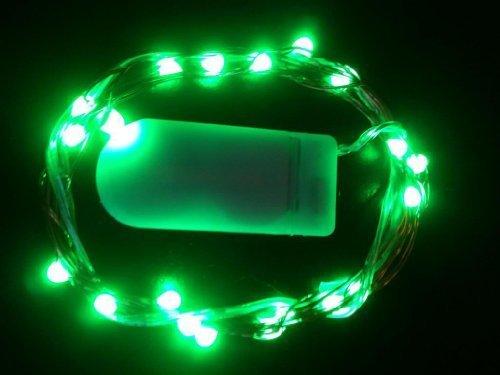 HLS 1 x 30 LED Unterwasserbeleuchtung Silberdraht Akku Fairy Lichter in Grün
