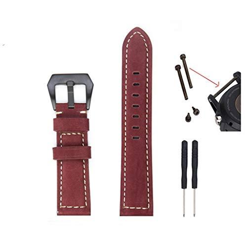 Feinny Smart Bracelet Uhren Armband Lederband/Fashion Trends Kuh Leder Uhr Ersatzarmband/Für Garmin Fenix 5S Plus Smart Hands - 20MM