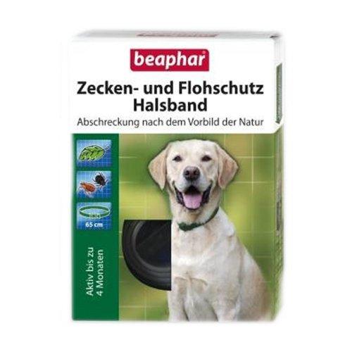 Beaphar - Zecken- und Flohschutz Halsband für Hunde - 65 cm
