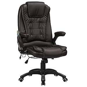 raygar massagestuhl b rostuhl aus kunstleder mit 6 punkt massagefunktion zur cklehnbar um. Black Bedroom Furniture Sets. Home Design Ideas