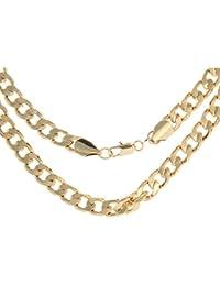 Smile YKK Chapado en Oro Colgante Collar Forma de Ola Mujer Dorado 2 Pcs