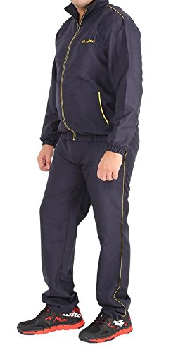 Lotto Men's Synthetic Tracksuit (61121200 NAVY/YELLOW L)