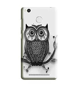 HiFi Designer Phone Back Case Cover Redmi 3s Prime :: Xiaomi Redmi 3s Prime :: Redmi 3s Prime (WITH FINGER PRINT HOLE) :: Redmi3s Prime :: Xiaomi3s Prime :: Mi 3s Prime :: Redmi 3sPrime :: Xiaomi Redmi 3sPrime :: Mi 3sPrime ( Owl Art Tattoo )