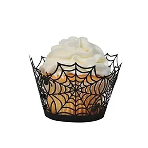 fenical Cupcake Wrappers 50 Spinnennetz Laser Backen Kuchen Papier -