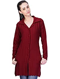 Montrex Maroon Long Coat for Women
