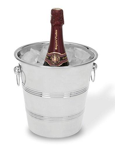 Spetebo Flaschenkühler aus Edelstahl 20,5cm-Ideal zur Kühlung von Getränken und Champagner