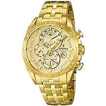 Festina F16656/2 - Reloj analógico de cuarzo para hombre, correa de acero inoxidable chapado color dorado