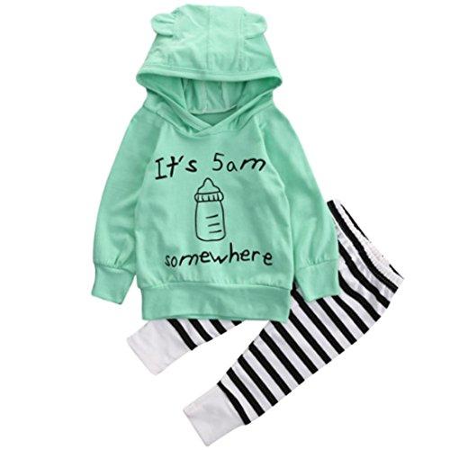 covermason-beb-unisexo-camisa-tops-y-largo-pantalones-1-conjunto-12m-verde
