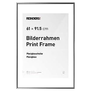 REINDERS Bilderrahmen für Maxi Poster - silber Kunststoff - acryl Scheibe
