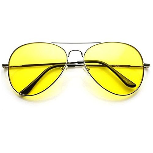Y&S UVA UVB Protected Sunglasses for Boys and Mens (Yellow-Aviator-Single)