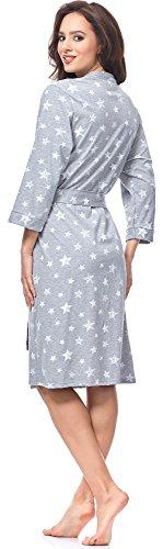 Italian Fashion IF Damen Morgenmantel Comet Melange/Weiß