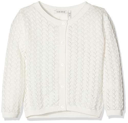 IKKS Junior Cardigan Tricot Blanc Casse, Chaqueta Punto para Bebé-Niñas, Beige (Blanc Cassé 19), 18-24 Meses (Talla del Fabricante: 2A)