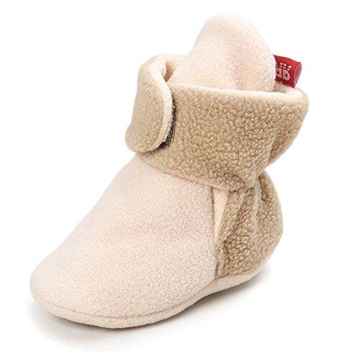 y erste Kinderwagen Schuhe, Fleece gefütterte Booties Schneeschuhe weiche warme Krippe Slipper (Halloween-fleece-stoff)