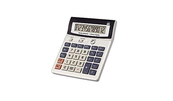 Destop calcolatrice di base batteria inclusa calcolatrice grande tasto con 12/cifre display LCD Calcolatrice nero Small Nero calcolatrice solare