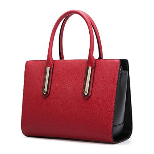 Damen Einfache Handtasche Mode Farbe Messenger Schulter Hit LotusRootPink Bag Einkaufstasche PRtwExq