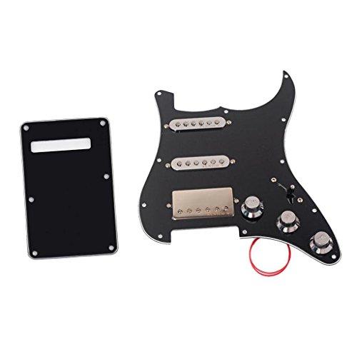 5 Backplate (Baoblaze Prewired Schlagbrett Ssh Alnico 5 Humbucker mit Backplate Rückenplatte Abdeckung für E-Gitarren)