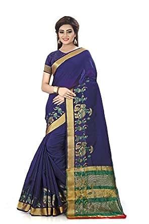 Royal Export Women's Cotton Silk Saree(ELPHANT)