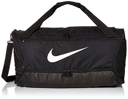Nike Brasilia (Medium) Trainingstasche, Black/Black/White, 64 x 30 x 30 cm -