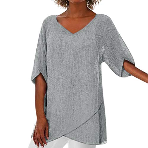 TEFIIR T-Shirt für Damen, Oktoberfest, Leistungsverhältnis Fashion Women Irregular Solid Tops Lose Größe Blouse Geeignet für Freizeit, Dating, Strandurlaub -