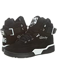 Patrick Ewing - Zapatillas de Material Sintético para hombre Black White 33