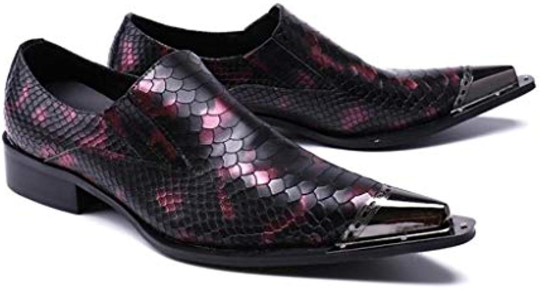 Mr.Zhang's Art Home Men's scarpe Scarpe da da da Uomo a Punta Viola Scarpe da Uomo di Stile Britannico | Promozioni speciali alla fine dell'anno  c52166