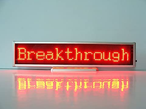 10.2Inch Length 16x96 Pixels P2.5 Led Light Text Message Scrolling Running Sign Store Display/Business Advertising Publicity Screen/Programmable Rechargeable