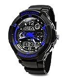 TOPCABIN Jungen Uhren Mädchen Uhren Kinder Armbanduhr Jungen Digital Analog Wasserdicht Sports Uhren für Jungen und Mädchen Digital Uhr Sports Uhren