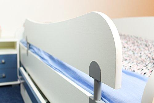 Absturzsicherung für Kinderbett / Jugendbett Benjamin, Farbe: Weiß - Abmessungen: 29 x 120 cm (H x B)