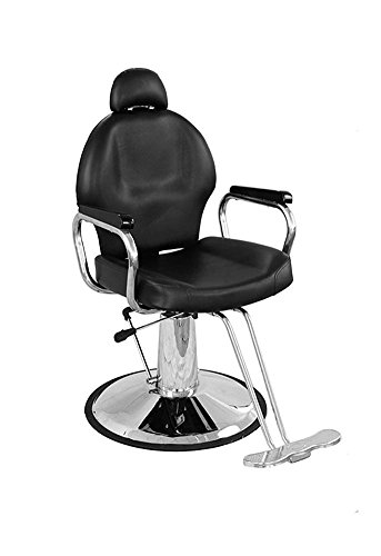 Barber Stuhl hydraulisch neigbar Barber Salon Beauty Spa Styling Equipment verstellbar Werkzeug (schwarz) (Styling Stuhl Schwarz)
