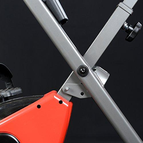 skandika Foldaway X-1000 Fitnessbike Heimtrainer klappbar mit Handpuls-Sensoren, 8-stufiger Magnetwiderstand, LCD Display ohne Rückenlehne - 7