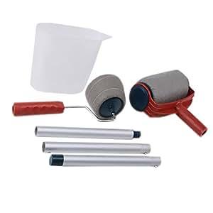 sharplace 6piece paint roller brush pro flocked edger room. Black Bedroom Furniture Sets. Home Design Ideas