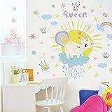 Adesivi Muro Cucina Unicorno Arcobaleno Regina Per Camera Dei Bambini Ragazze Camera Da Letto Stickers Murali Finestra Nursery Decor Regalo Di Compleanno