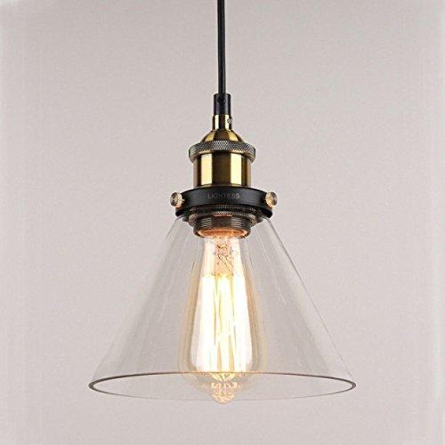 Lightess Lámpara Vintage Lámpara Industrial Lámpara de Techo Lámpa