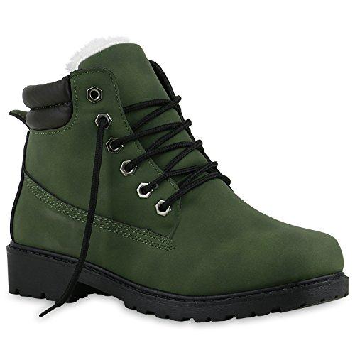 UNISEX Damen Herren Warm Gefütterte Damen Worker Boots Stiefeletten Outdoor Dunkelgrün Weiss