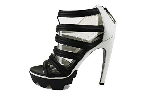 VIC MATIE' sandali donna pelle nero ghiaccio AH809 (36 EU)