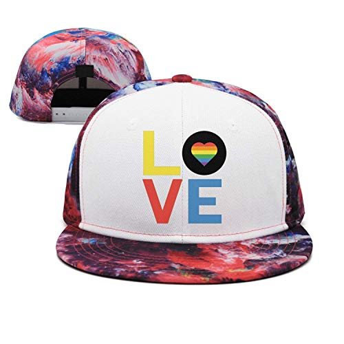 Baseballkappe, LGBT Gay Pride Love Denim Jeanet Baseball Cap Adjustable Outdoor Sports Cap for Men Women ()