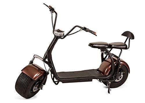 OOBY Motocicleta Eléctrica Harley Q2 Vespa del Adulto - Colores Múltiples A Elegir De-20A,Brown