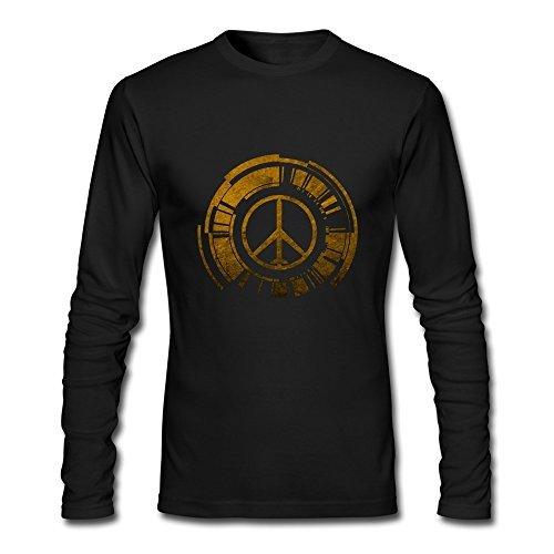 StyxHills Men's Peace Walker Logo Metal Gear Solid Long Sleeve T-shirt