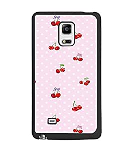 PrintDhaba Cherries D-2293 Back Case Cover for SAMSUNG GALAXY NOTE EDGE (Multi-Coloured)