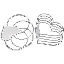 Healifty Troqueles de Corte Plantilla de Plantilla de Metal Molde DIY Estampado de Metal Plantilla para